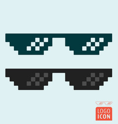 Glasses icon isolated vector