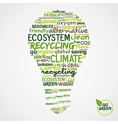 Go Green Words cloud about environmental vector