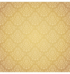 Golden festive ethnic pattern vector image