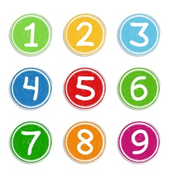 Hand Drawn Numbers vector