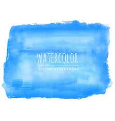 hand painted blue watercolor stain background vector image vector image