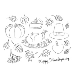 Happy Thanksgiving set vector image