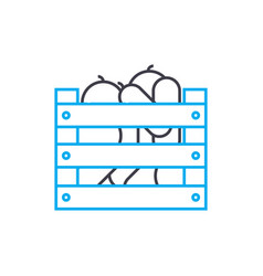 harvesting linear icon concept harvesting line vector image