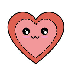 heart and love kawaii cartoon vector image