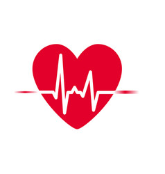 Heartbeat icon heart rhythm vector