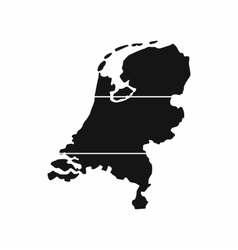Holland map icon simple style vector
