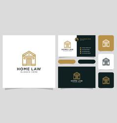 house law logo design vector image