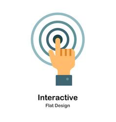 Interactive flat icon vector