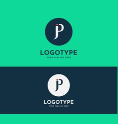 Letter jp pj icon based design vector