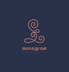 monogram l vector image