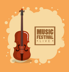 music festival live with violin vector image