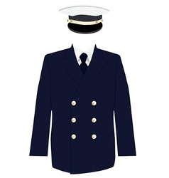 Navy captain uniform vector image