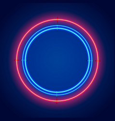 Neon frame sign in the shape of a circle vector