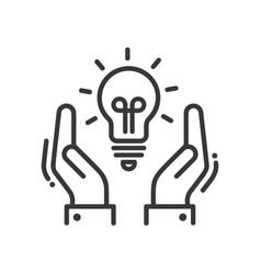 new idea or concept - modern line design vector image