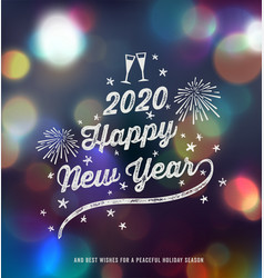 new year greeting design vector image