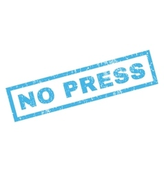 No Press Rubber Stamp vector