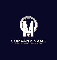 o m initial logo letter logo inspirations vector image