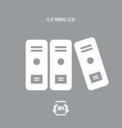 Office archive folders icon vector