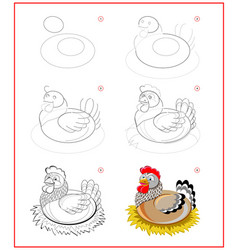 page shows how to learn to draw step step cute vector image