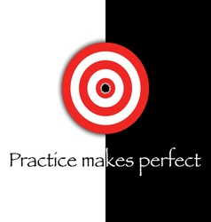 practice makes perfect vector image