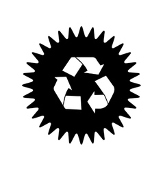 Recycle arrows label or emblem icon image vector