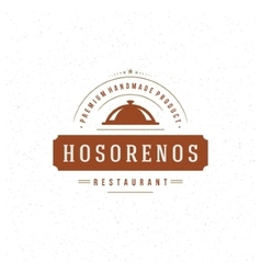 Restaurant Cloche Design Element in Vintage Style vector image