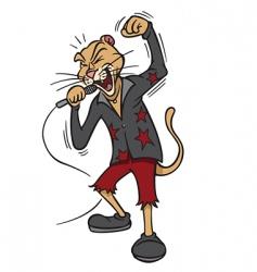 rock star lion vector image