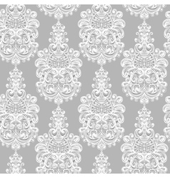 Seamless vintage baroque background vector image
