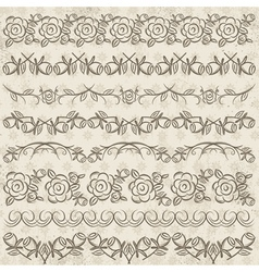 Set of Lace Paper with flower vector image