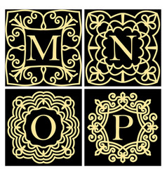 set of monograms for cards wedding invitations vector image