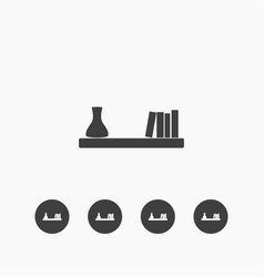 shelf icon simple vector image