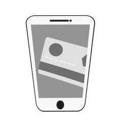 smartphone credit card payment virtual gray color vector image