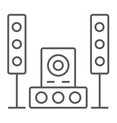 sound system thin line icon audio and stereo vector image