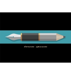 Stylized pencil and writing pen variation 2 vector
