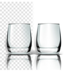 transparent glass tableware template vector image
