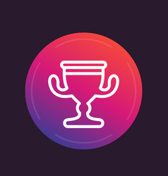 Trophy cup linear icon vector