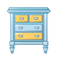 vintage bedside icon cartoon style vector image