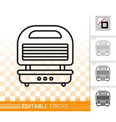 waffle iron simple black line icon vector image