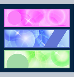 Web header set vector