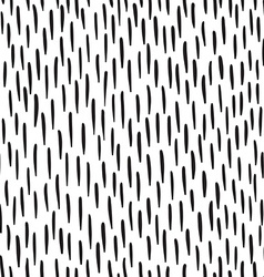 Abstract doodles pattern with strokes Black and vector image vector image