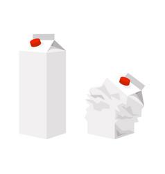 cardboard packaging for milk vector image