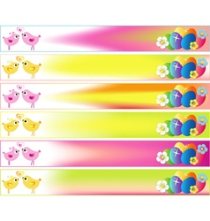 Easter day banner set skyscraper with stars vector