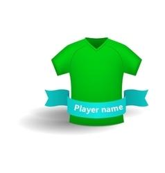 Green sports shirt icon cartoon style vector image vector image