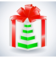 New year gift box with bow vector image