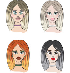 4 types of womens appearance vector image
