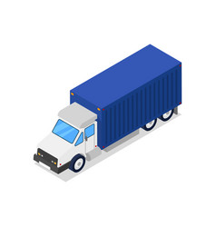 commercial freight truck isometric 3d icon vector image vector image