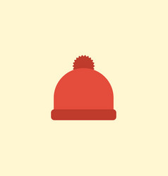 flat icon beanie element of vector image