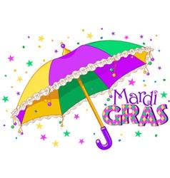 Mardi Gras umbrella vector image vector image