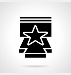 stage performance glyph style icon vector image vector image