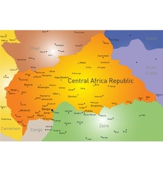 Central Africa Republic vector image vector image